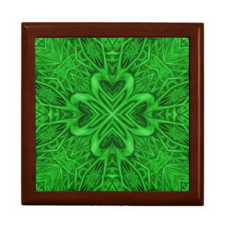 Celtic Clover Kaleidoscope Tile Gift Box