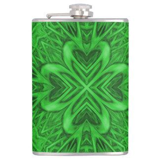 Celtic Clover Kaleidoscope Vinyl Wrapped Flasks