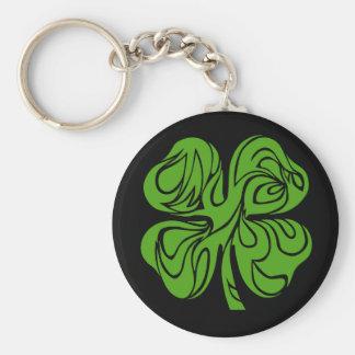 Celtic clover keychain