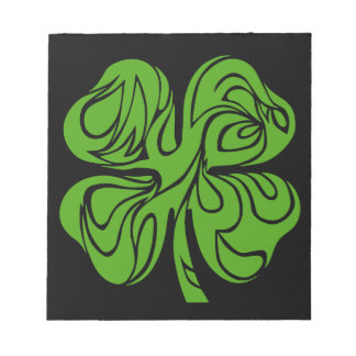 Celtic clover notepad