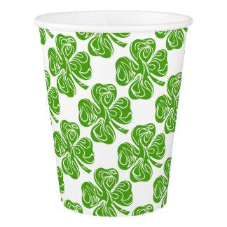 Celtic clover paper cup