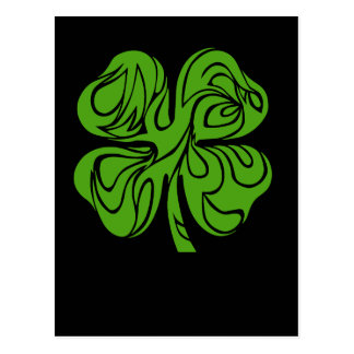 Celtic clover postcard