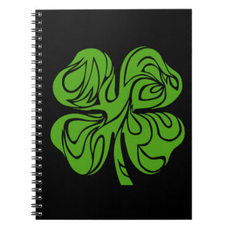 Celtic clover spiral notebook