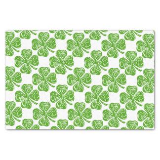 Celtic clover tissue paper
