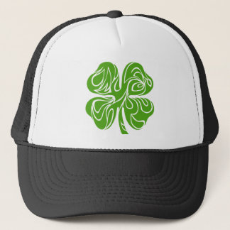 Celtic clover trucker hat