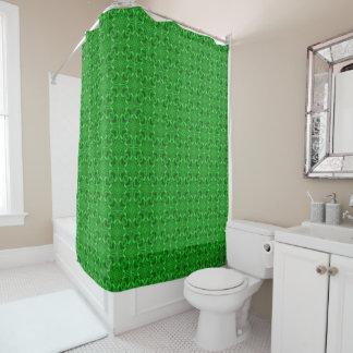 Celtic Clover   Vintage Green  Shower Curtain