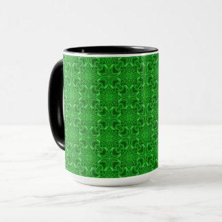 Celtic Clover Vintage Kaleidoscope Combo Mug