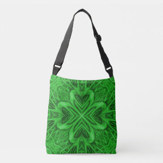 Celtic Clover Vintage Kaleidoscope  Cross Body Bag