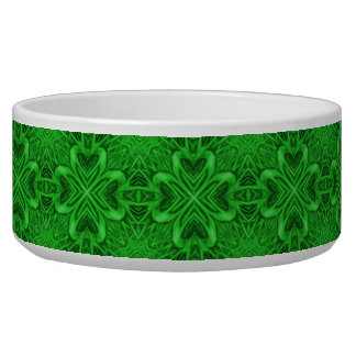 Celtic Clover Vintage  Kaleidoscope  Pet Dish