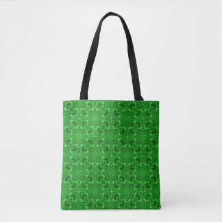 Celtic Clover Vintage Kaleidoscope    Tote Bag