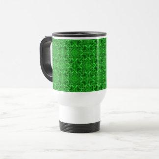 Celtic Clover Vintage Kaleidoscope Travel Mug