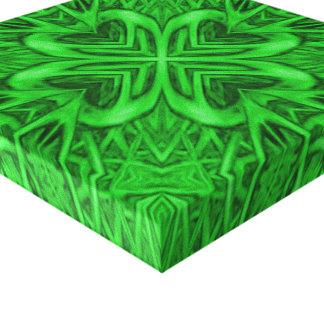 Celtic Clover  Vintage Wrapped Canvas