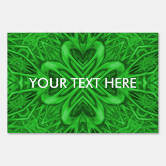 Celtic Clover   Yard Signs, 3 sizes