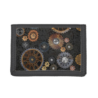 Celtic Cogs and Gears Trifold Wallets