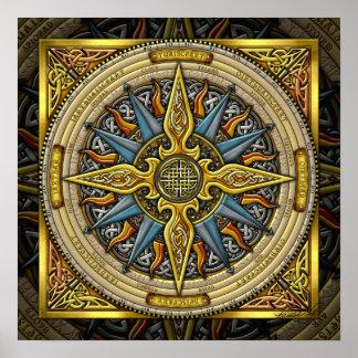 Celtic Compass FIne Art Poster