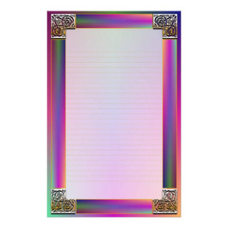 """""""Celtic Corners Eight"""" Fine Lined Stationery"""