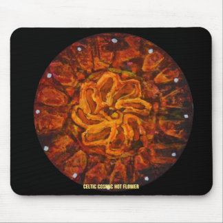 CELTIC COSMIC HOT FLOWER MOUSE PAD