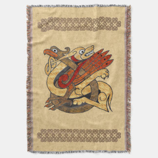 Celtic Creatures Throw Blanket