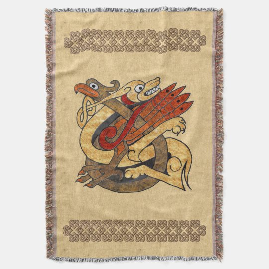Celtic Creatures Throw Blanket