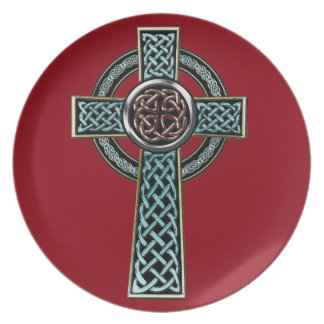 Celtic Cross 2 Party Plate