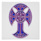 Celtic Cross 2 Purple Poster