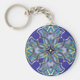 Celtic Cross 5 Basic Round Button Keychain