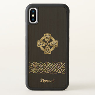 Celtic Cross and Chain Personalized iPhone X Case
