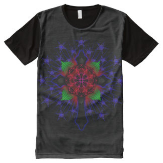 Celtic Cross and Jesus Fish Rose All-Over-Print T-Shirt