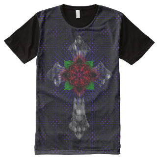 Celtic Cross and Rose All-Over-Print T-Shirt