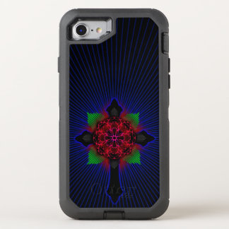 Celtic Cross and Rose OtterBox Defender iPhone 8/7 Case