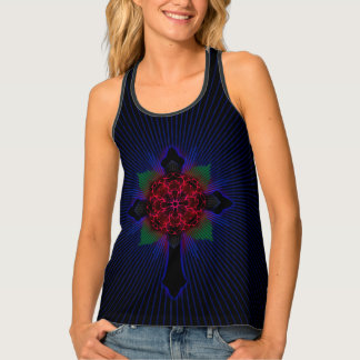 Celtic Cross and Rose Tank Top