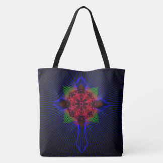 Celtic Cross and Rose Tote Bag