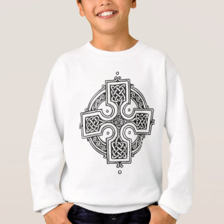 Celtic Cross (Black and White) Sweatshirt