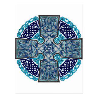 Celtic Cross Blue Postcard