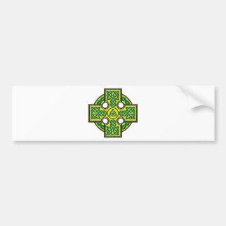 celtic cross bumper sticker