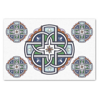 Celtic Cross Deco Tissue Paper