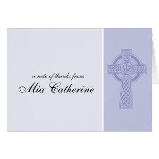 Celtic Cross First Communion Thank You Card