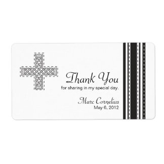 Celtic Cross First Holy Communion Favor Shipping Label