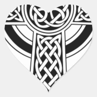 Celtic cross heart sticker