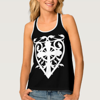 Celtic cross heart tank top