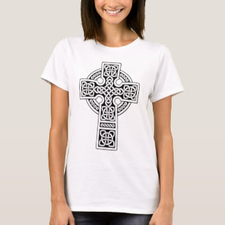 Celtic Cross light white and black T-Shirt