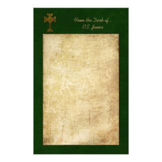 Celtic Cross & Parchment Stationery