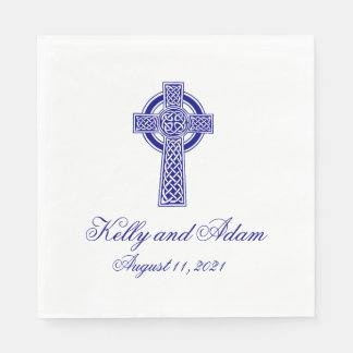 Celtic Cross Personalized Wedding Paper Napkin