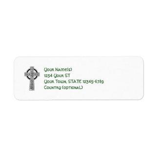 Celtic Cross - return address labels