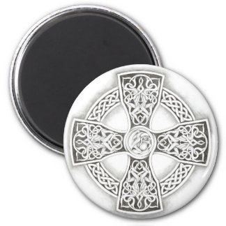 Celtic Cross Round Refrigerator Magnet