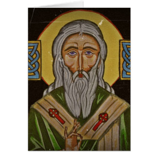 Celtic Cross Saint Patrick Card