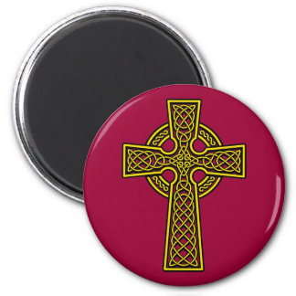 Celtic Cross skelton gold Magnet