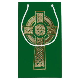 Celtic cross small gift bag