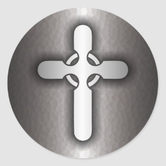 Celtic Cross (steel) Classic Round Sticker