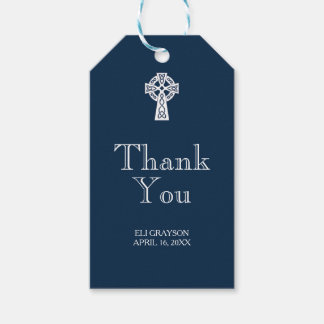 Celtic Cross Thank You Tag - Modern